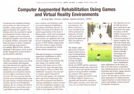 Computer Augmented Rehab Using Games and Virtual Reality Environments
